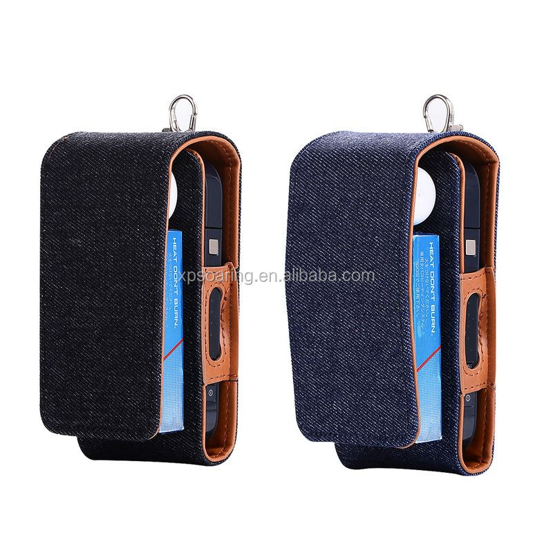 Jeans skin leather case for IQOS E-cigarette, Protective pouch bag for IQOS