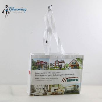Latest product OEM design stand up shopping rpet tote fashion bag