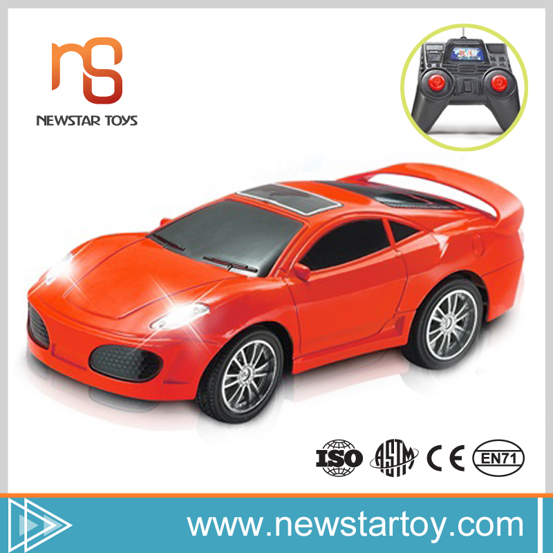 2016 popular plastic product 1/22 rc stunt car with headlight