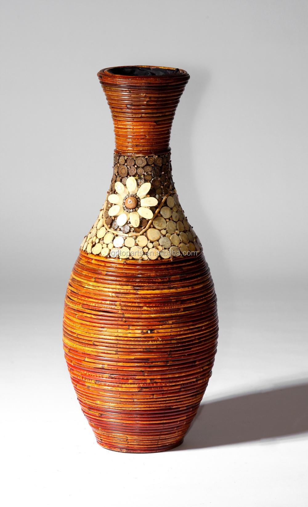 Large Round Willow Wicker Corner Vases Baskets Wicker Home Decor