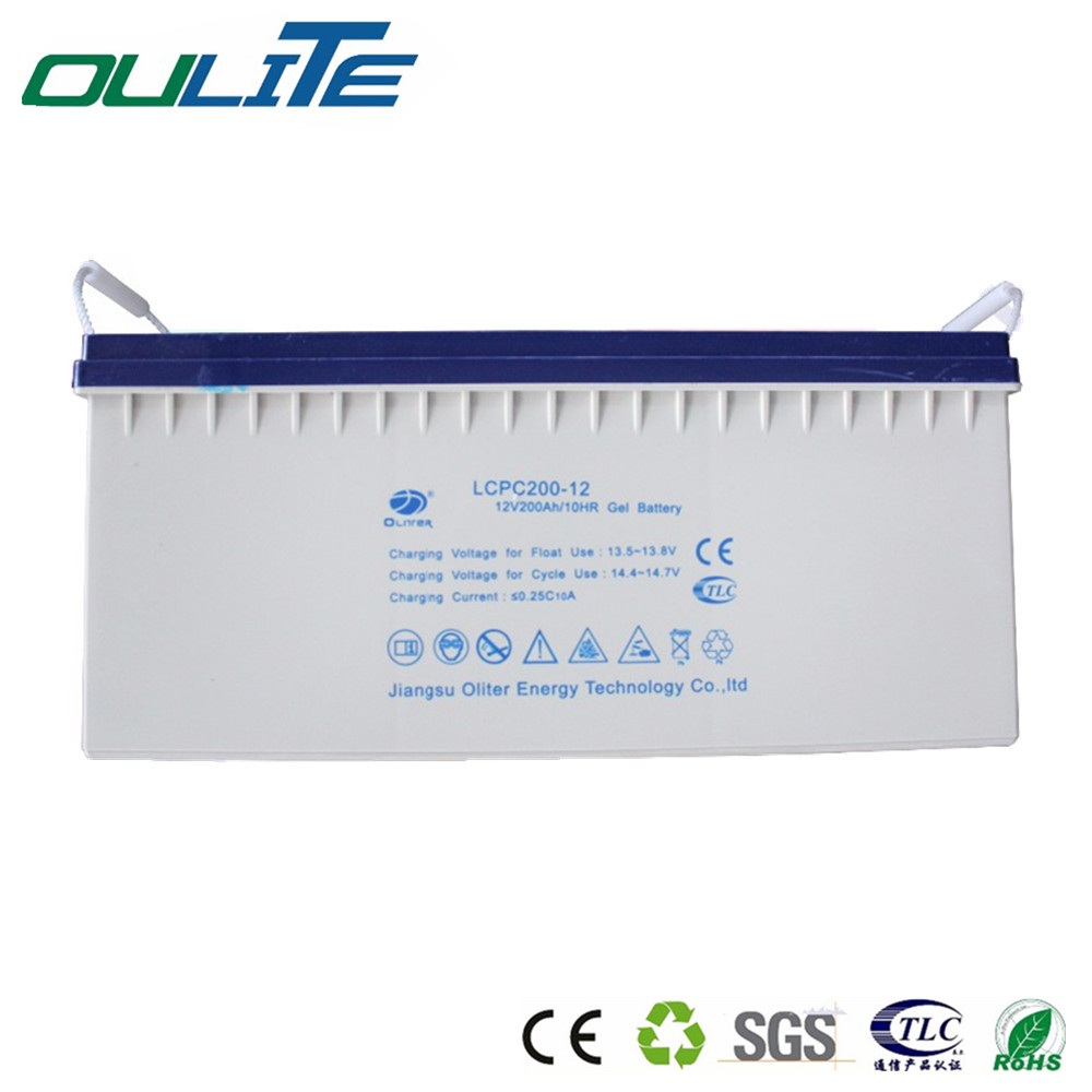 12V 200AH Solar energy deep cycle Storage Battery with Free Maintenance