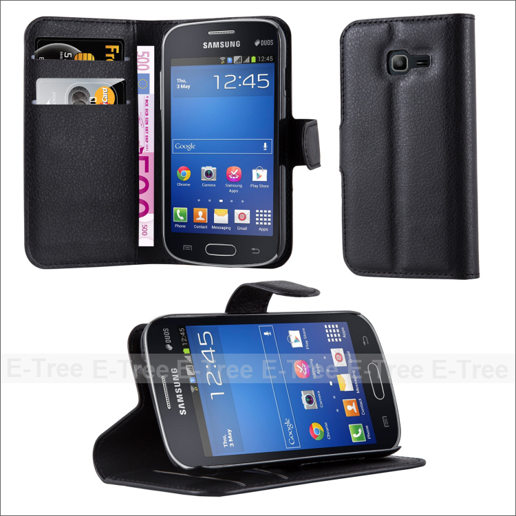 New Fashion Leather Phone Cover Case for Samsung Galaxy Star Pro