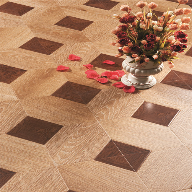 High quality interlocking hdf wood laminate parquet <strong>flooring</strong>