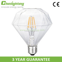 Led lamp for the house Dimmable E26 E27 diamond shape led light filament lights bulb