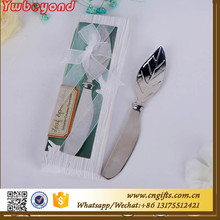Wholesale Ywbeyond Birthday Gift Away Chrome Butter Spreader Leaf butter knife wedding take away gifts