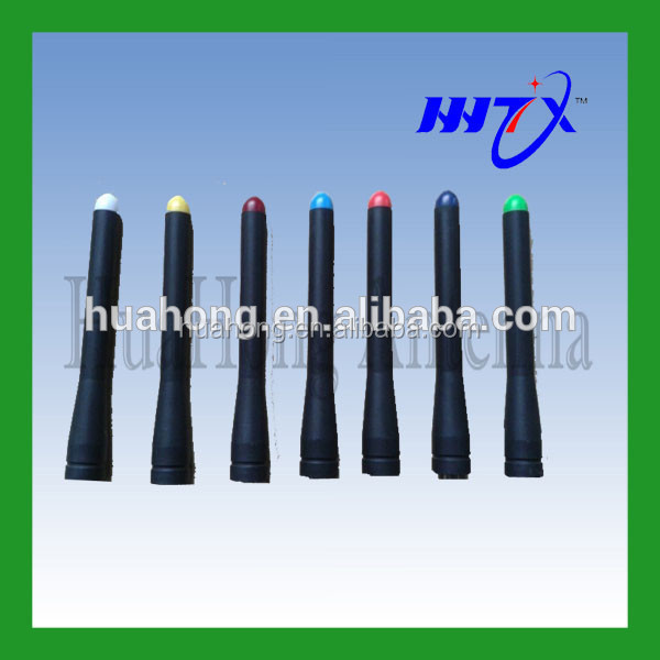 Colorful LED lighted VHF UHF dual band 145 435MHZ Ham radio antenna for R5 Baofeng walkie talkie