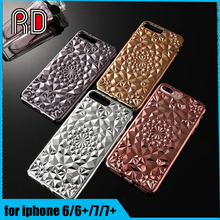 4 colors rose gold black silver Kaleidoscope Cases cover soft protective sun flower phone case for iphone 6 6 plus 7 7 plus