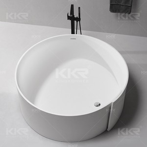 Solid Surface one person hot tub,round hot tub