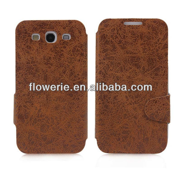 FL2883 2013 Guangzhou new arrival brown leather business card holder case for samsung galaxy s3 i9300