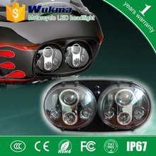 Motorcycle Dual LED Headlights Assembly for Harley Road Glide Headlamp