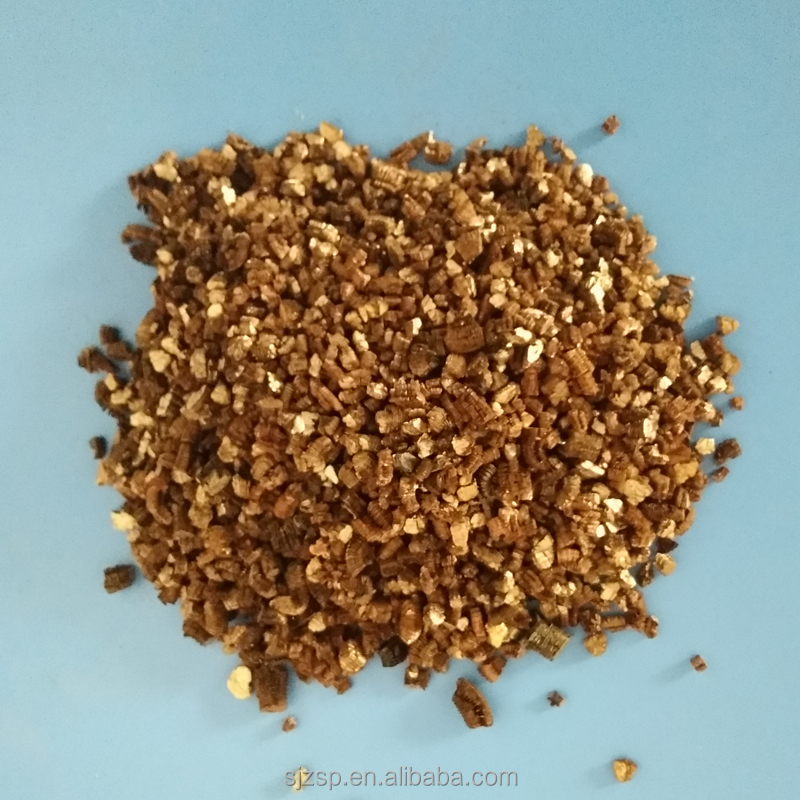 Cheap golden vermiculite for fire-proof board