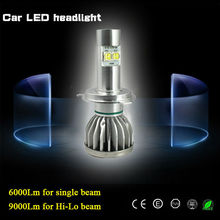 Factory supply directly Car h4 led headlight wholesale auto led head lamp 90w 9000 lumen H4 H13 9004 9007 led headlight