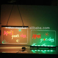 2017 Hot New Technology 25X40/30X50/40X60/50X50cm Desktop Stands Led Neon Marker Drawing Board Gas Station Billboard With Dimmer