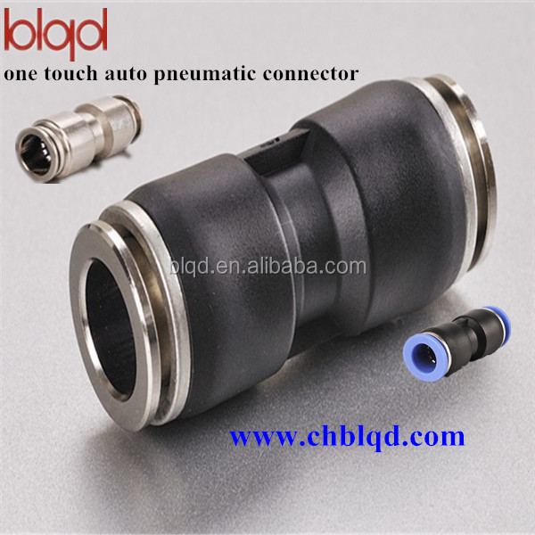 Union plastic push fitting one touch pneumatic fittings