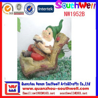best selling custom made resin outdoor decoration gnomes figure