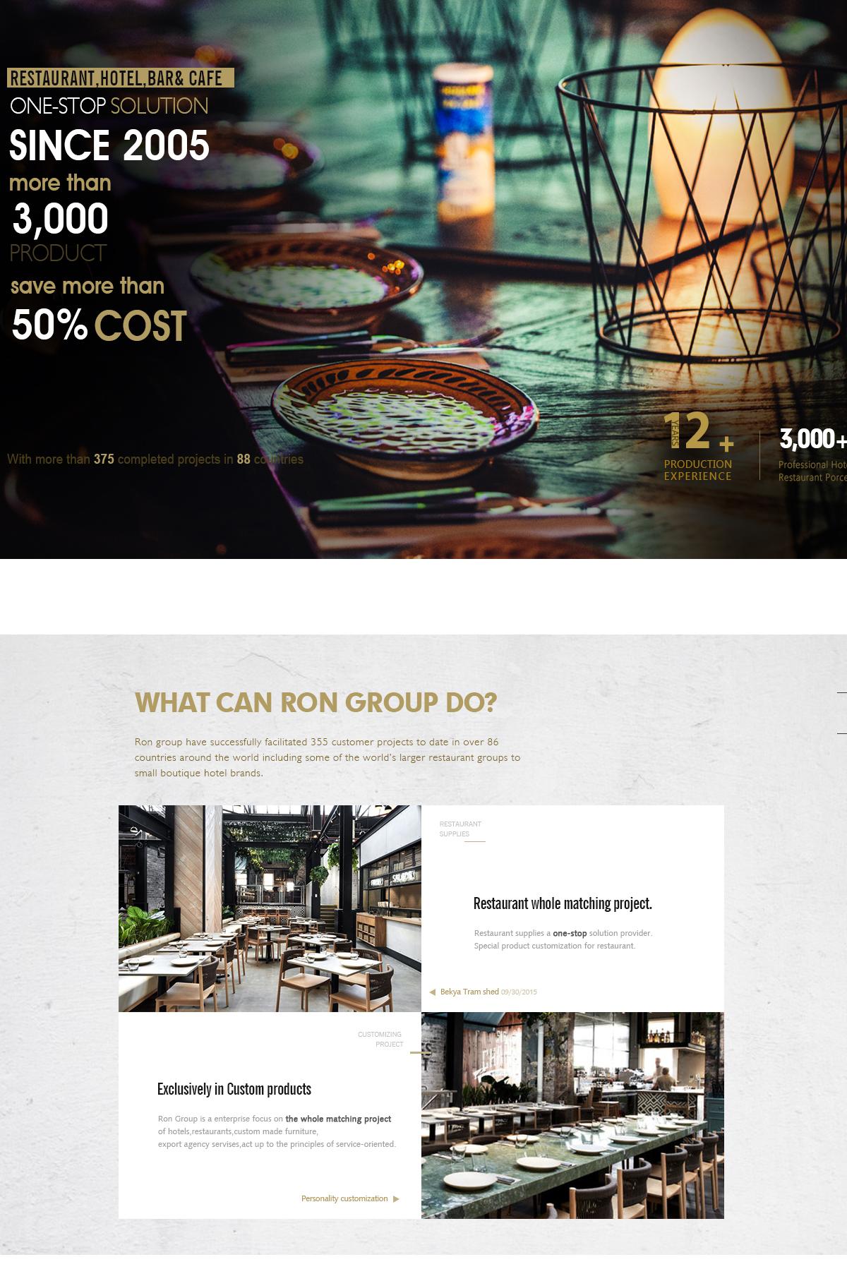 Foshan Ron Hospitality Supplies Co., Ltd. - Restaurant Furniture ...