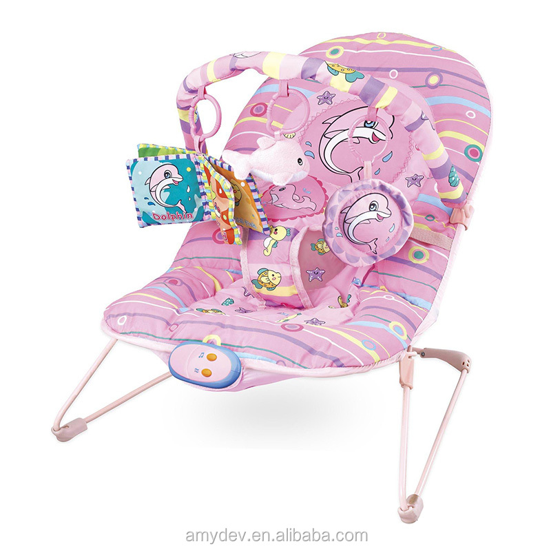 Colorfull Shake Baby Rocking Chair with IC make of Iron and cloth
