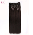 Wholesale Full Cuticles Double Drawn Remy Human Hair Extensions Clip In