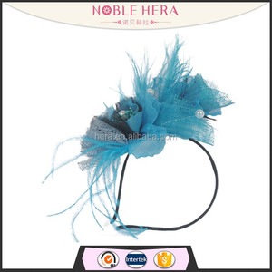 Factory Cheap Woman Sinamay Hair Clip Fascinator with Feather Wholesale 7H
