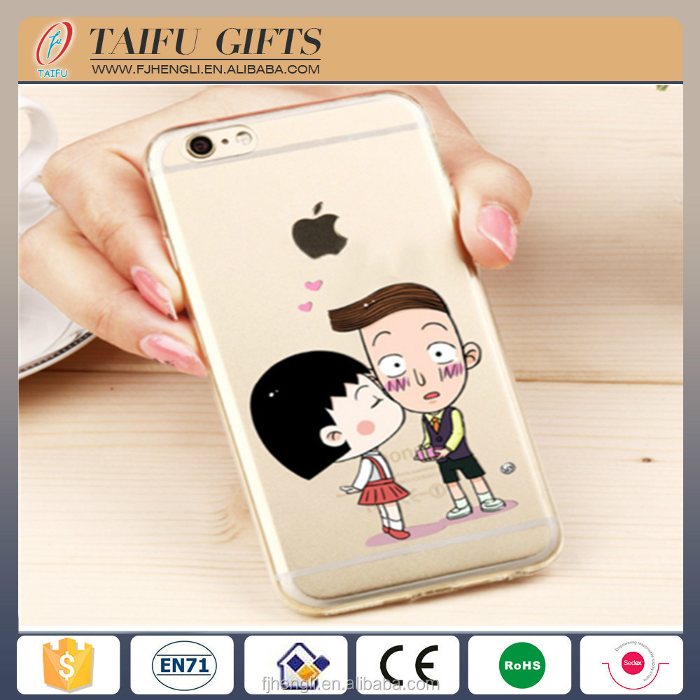 Promotional cheap bulk cartoon silicone rubber cell phone display case