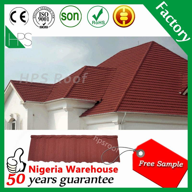 Kerala house designs low cost color stone coated metal roof tiles