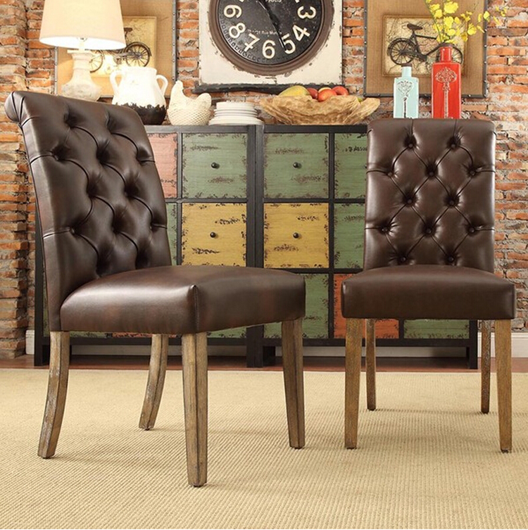 high back dining room chairs tufted