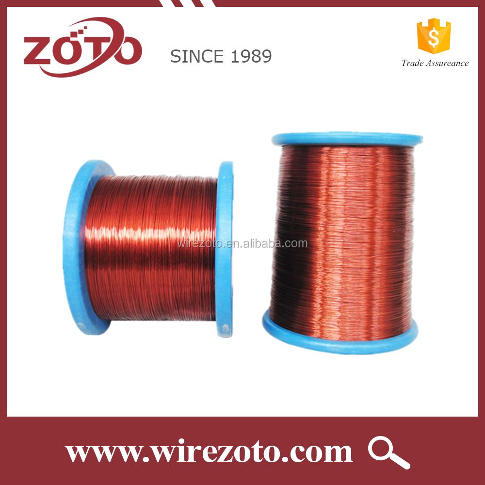 99.97% purity Enameled round copper magnet wire PEW 155C