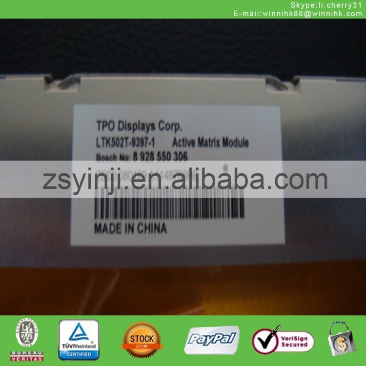LTK502T-9397-1 Lcd DVD Original Panel <strong>A001</strong> Display Screen Car 60 days warranty