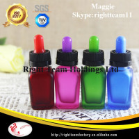 hot sale square sha[ed liquor glass bottle 15/30ml/colored fancy liquor glass bottle for gift
