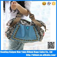 Fashion canvas vintage handbags with single shoulder strap messenger bag for girls