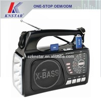 Rechargeable torch light radio, AM FM SW 3 band portable radio