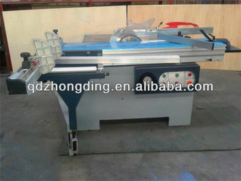 woodworking sliding table saw with cutting tools