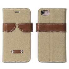 Magnetic OEM Jeans/Cowboy wallet leather case for iphone 7