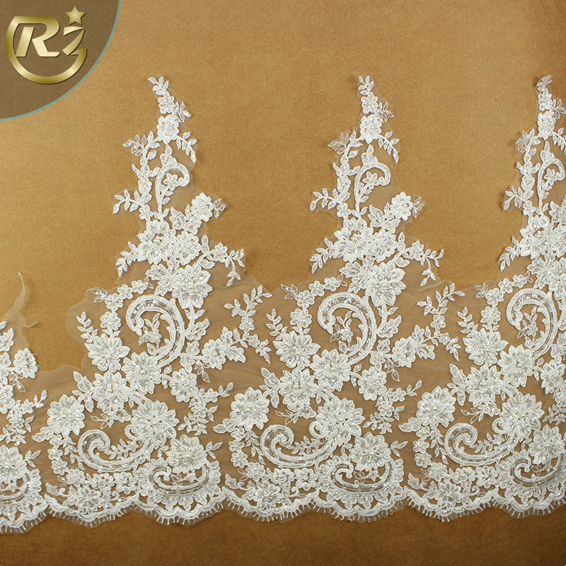 LB-268 High-end Wenzhou Supplier Jacquard 100% Polyester Embroidery Lace Trim