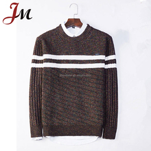 Flat Knit Ribbed Trims Pullover Men Sweaters Brand Man Jumpers New Winter Fashion Casual Top Shirt Clothing