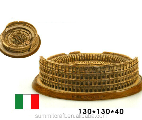 Italy Colosseum resin 3d building model Italy souvenirs