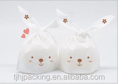 Custom cookie rabbit ears food packaging bags