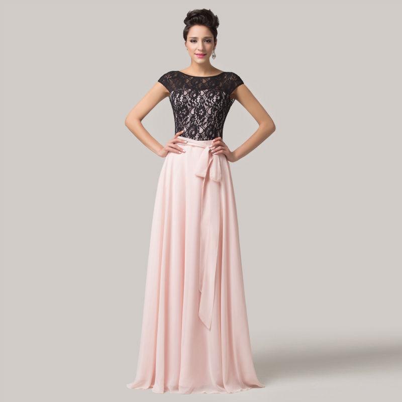 great blog robe robe longue rose et blanc. Black Bedroom Furniture Sets. Home Design Ideas