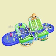 Cheer Amusement PVC Water Play Park Giant Inflatable Water Games Fun Water Slide