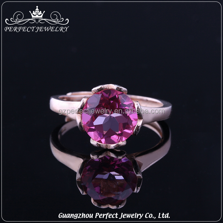 Factory Manufacturer Wholesale High End Women Fashion Jewelry Single Stone Ring Designs