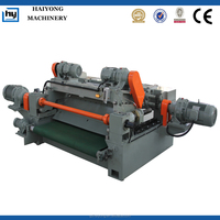 rotary wood veneer cutting machine
