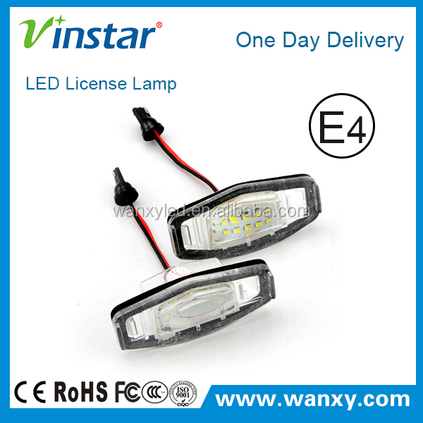 Manufacturer direct selling 2x LED License Reg Number Plate Light For Honda with e-mark approved