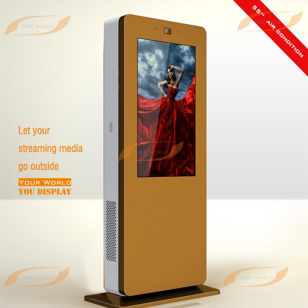 55 inch outdoor advertising lcd touch screen display compatible of Windows and Android