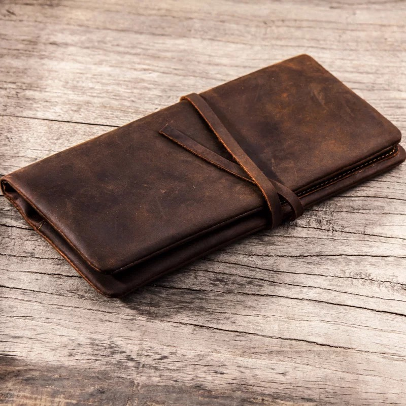 high-quality vintage genuine leather men wallet