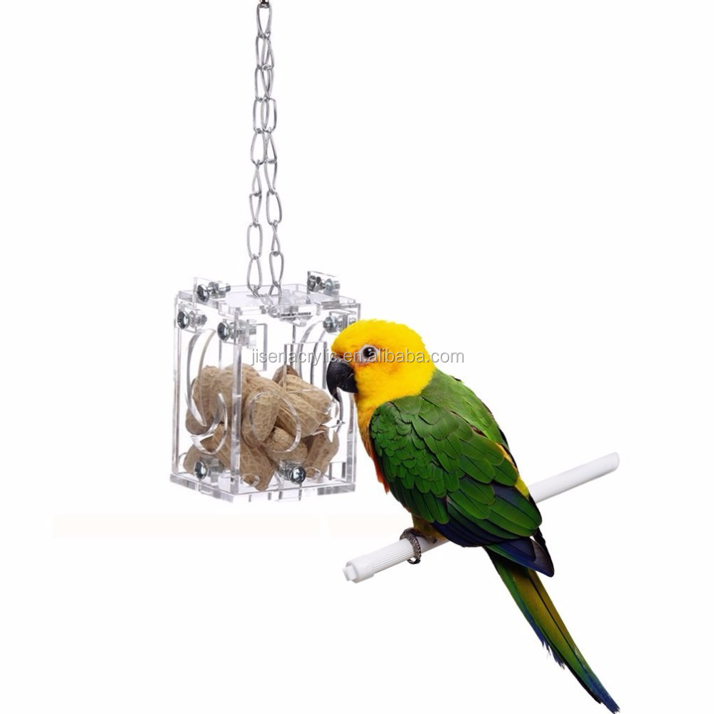 Creative Foraging Bird Feeder Foraging Interactive Transparent Acrylic Box Toys pet box
