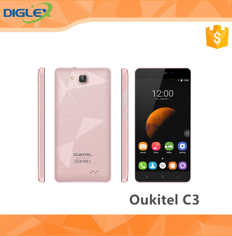 Original Oukitel C3 Smart Phone Android MT6580 6.0 RAM 1GB ROM 8 GB 5.0MP Mobile Phone