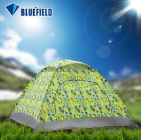 Camouflage Camping Dome Fiberglass Tents with 4.18 square meter