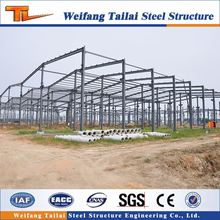 wide span steel structure sandwich panel warehouse building