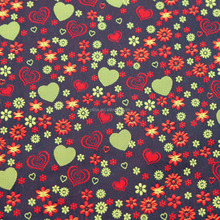 Lovly Heart Pattern Design Dress Fabric