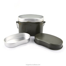 2017 Best Selling Aluminum 3 Pieces Mess Kit/Mess Tin and Camping Pots/ Portable Backpacking Cookware Picnic lunch box